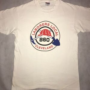 Vintage Laborers Local Cleveland 860 Shirt